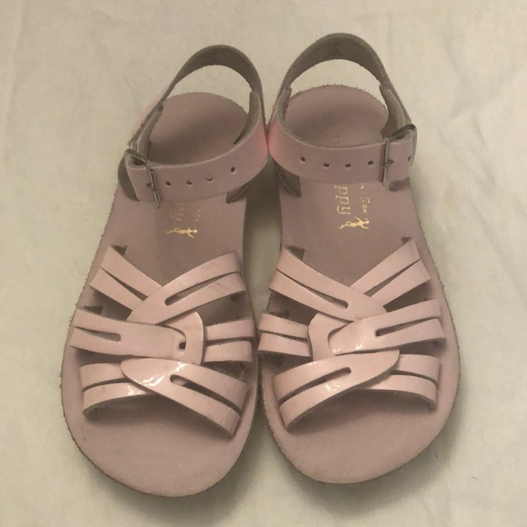 Girls Sz11 Light Pink Salt Water Sandals